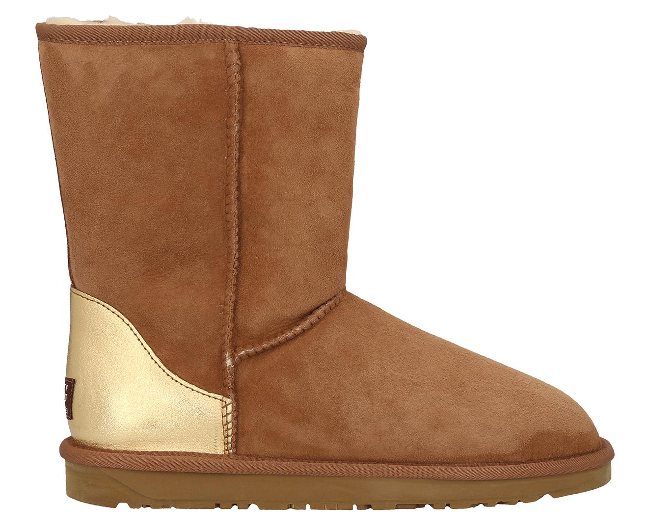 fff5dea9354 Bluestar Premium Australian Sheepskin 3/4 Ugg Boot - Chestnut/Gold