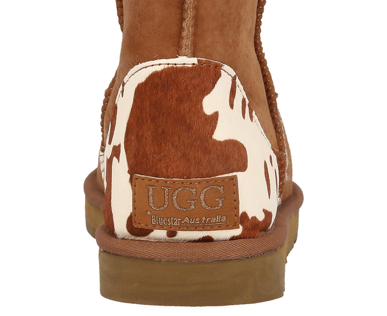 Bluestar Premium Australian Sheepskin 3/4 Ugg Boot - Chestnut Cow