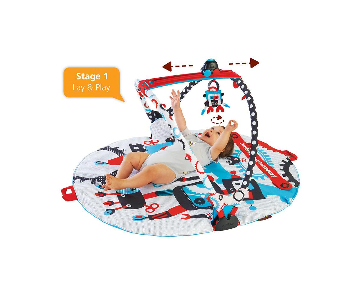 Yookidoo Gymotion Robo Baby Activity Play Gym Mat Land