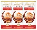 3 x Lindt Creation Milk Chocolate Salted Caramel Sundae 100g 1