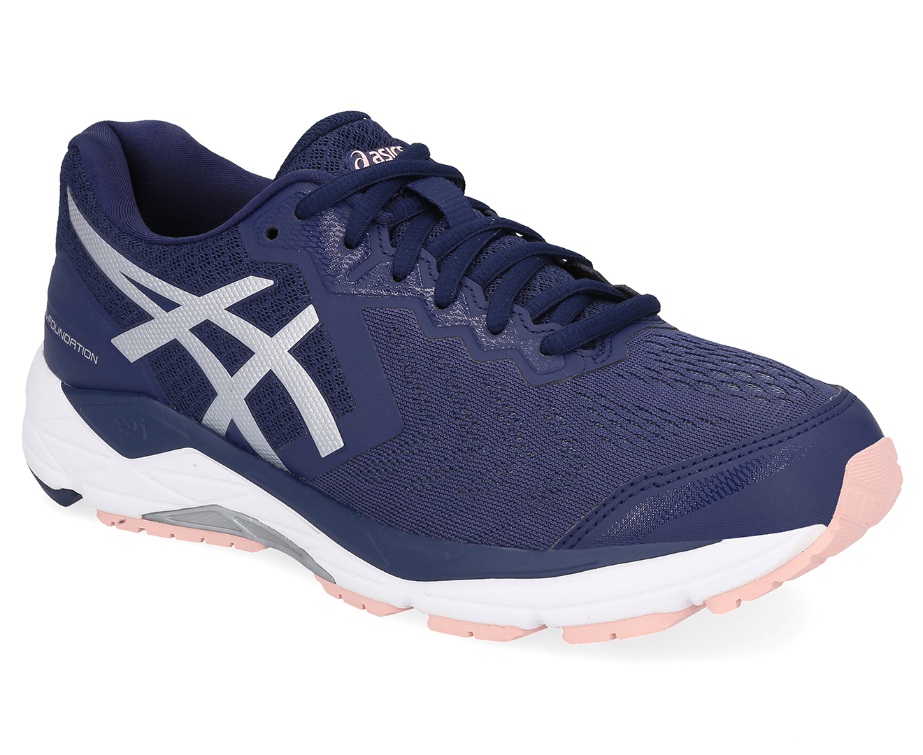 619ba763cd833 Details about ASICS Women's GEL-Foundation 13 Wide Fit Shoe - Indigo  Blue/Silver/Seashell Pink