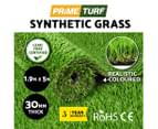 Primeturf Synthetic 30mm 1.9mx5m 9.5sqm Artificial Grass Fake Turf 4-coloured Plants Plastic Lawn 2