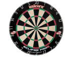 Unicorn Eclipse Pro 2 Dart Board & Winmau Rosewood Wooden Cabinet + 6 x Darts 2
