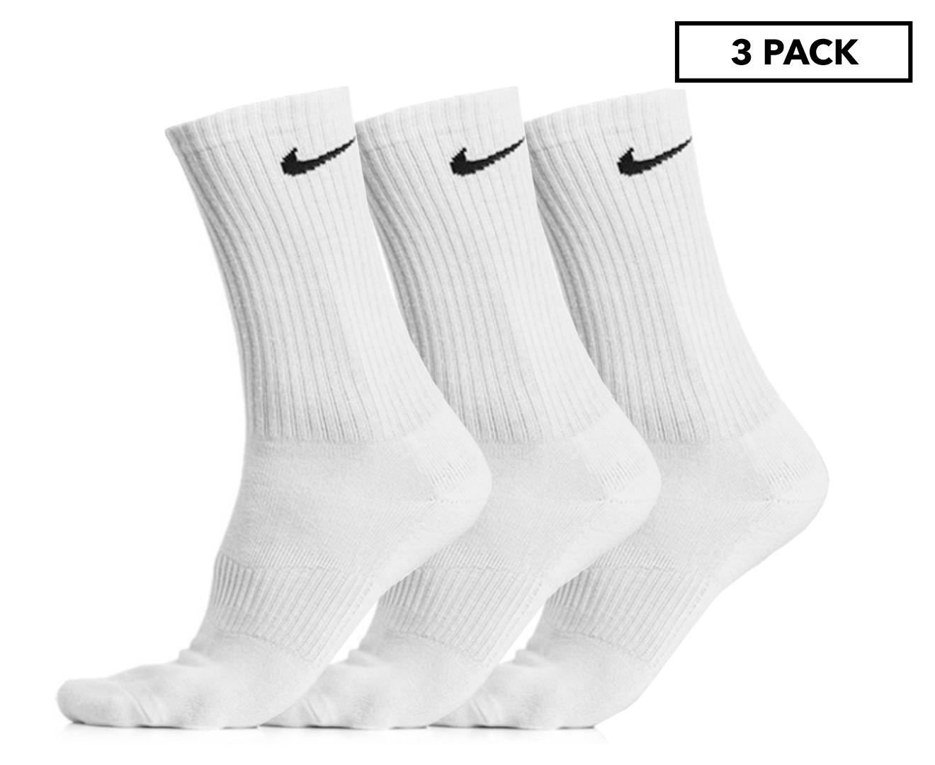 72a68892e Nike Men's Cotton Cushion Crew Socks 3 Pack - White | eBay