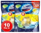 2 x 5pk Domestos Power 5 Maxi Pack Lime Toilet Cleaner 1
