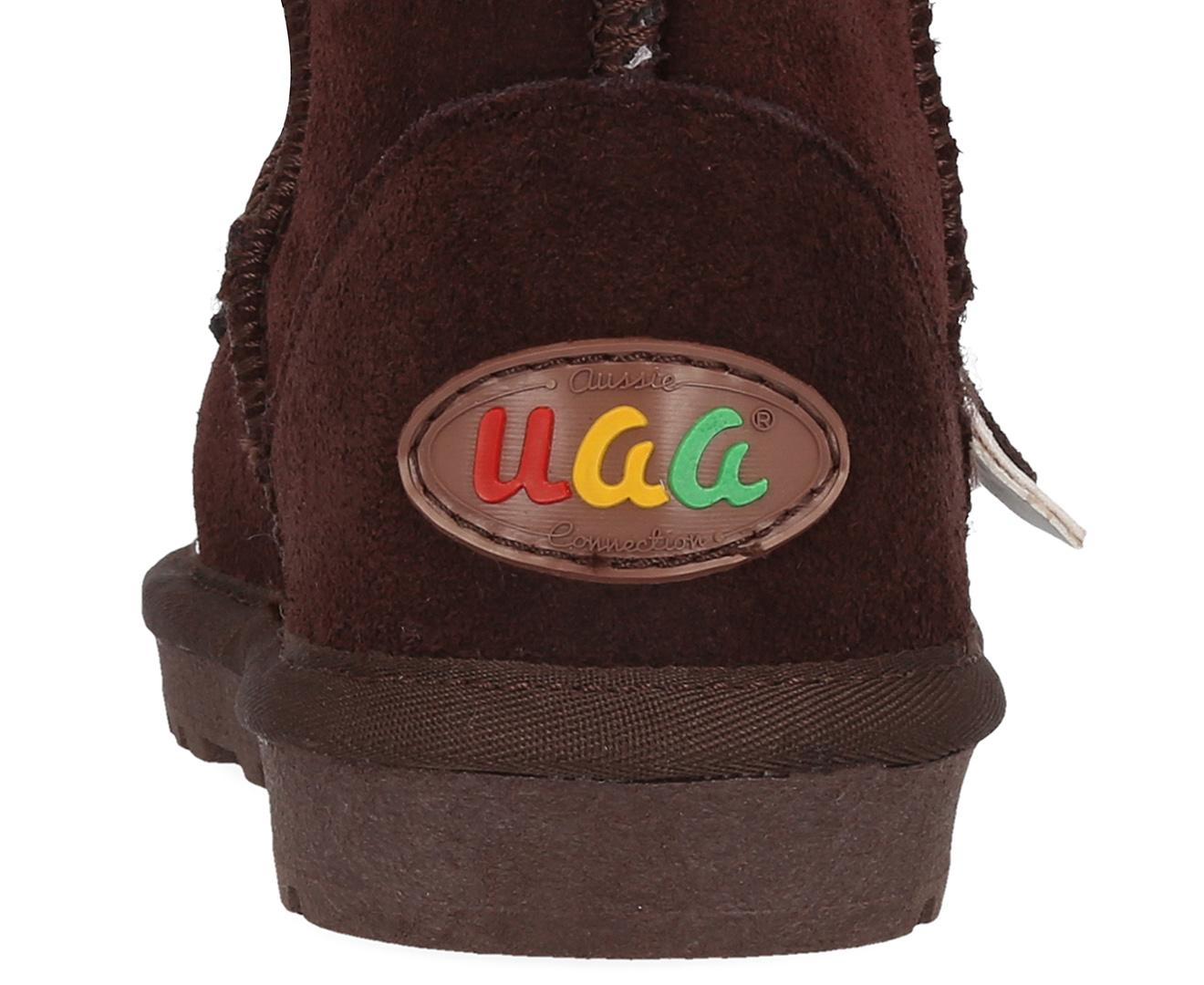 33a347beda9 Bluestar Kids' Premium Australian Sheepskin Donkey Ugg Boot - Chocolate