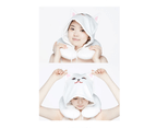 Etude House Sugar & Jam Sugar Hoody Neck Pillow - Travel Sleep Rest Support 3