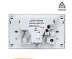 Black & White Dual USB Australian Power Point Home Wall Plate Power Supply Socket 3