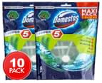 2 x 5pk Domestos Power 5 Maxi Pack Pine Toilet Cleaner 1