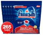 5 x 53pk Finish Powerball All-in-1 Max Dishwashing Tablets Lemon Sparkle 1