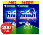 2 x 100pk Finish Powerball All In One Dishwashing Tabs 1
