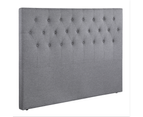 Grey Fabric Bed Head Upholstered Headboard Queen Size Bedhead Frame 2