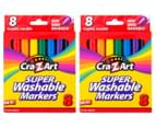 2 x Cra-Z-Art Super Washable Markers Classic Colors 8-Pack 1