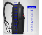 """Bopai Luxury Style Leather & Microfibre Anti-Theft Business and Travel with USB Charging Backpack B3152 Blue 15.6"""" Laptop 3"""