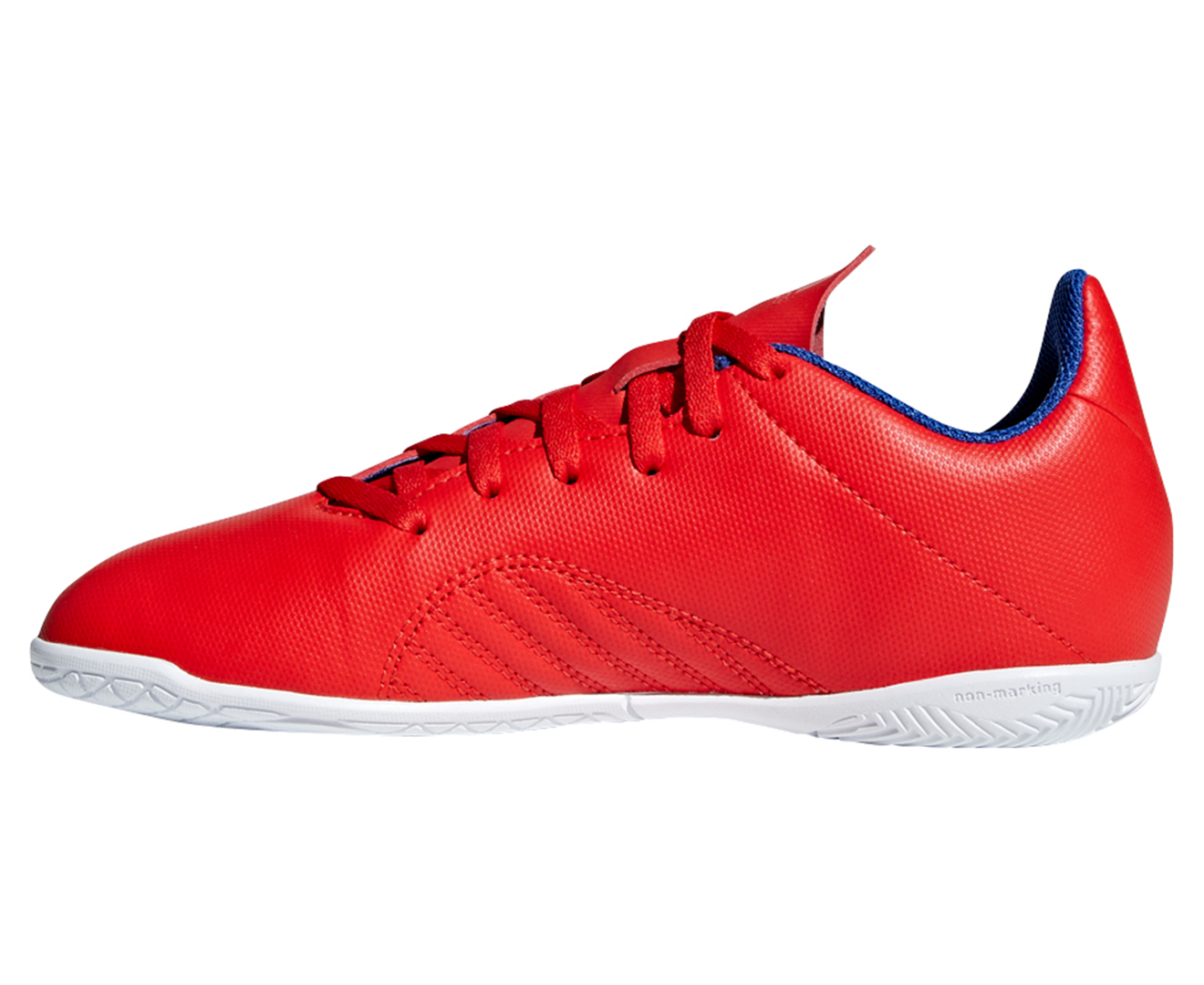Details about Adidas Boys' X 18.4 Indoor Soccer Shoe RedSilverBlue