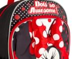 Disney Minnie Mouse Backpack - Red/Black 4
