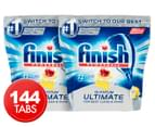 2 x 72pk Finish Powerball Quantum Ultimate Dishwashing Tabs Lemon 1