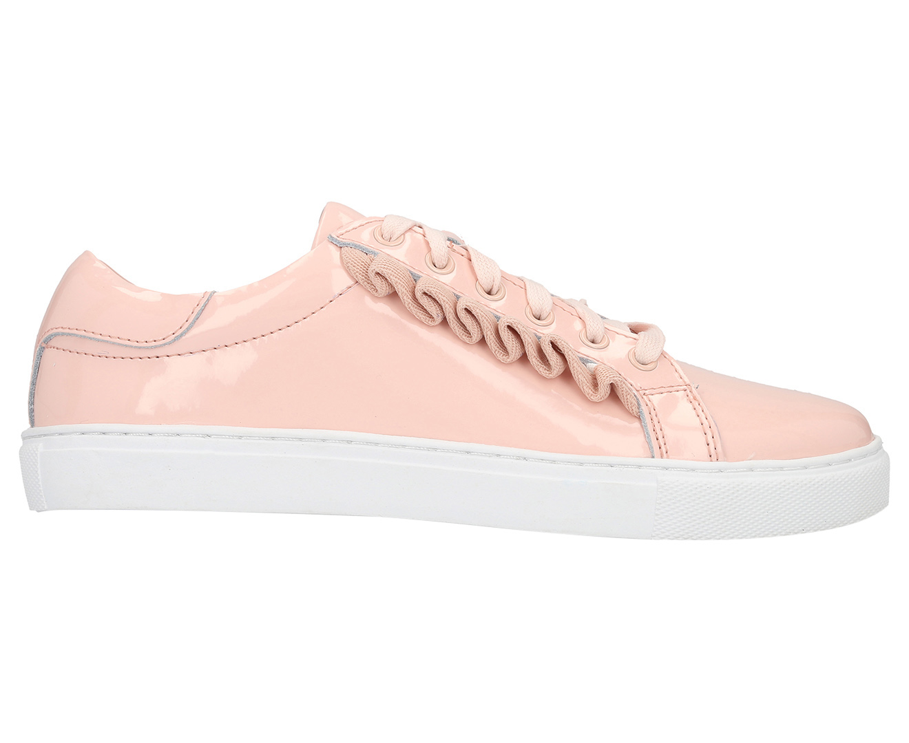 Walnut Melbourne Women's Alexis Frill Sneaker Patent Pink