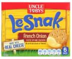 3 x 6pk Uncle Tobys Le Snak French Onion Dip & Crackers 132g 2