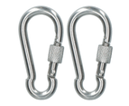 AB Tools 2 x Carabina Carbine Hook with Screw Gate 6mm MARINE GRADE Stainless Steel DK74 1