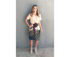 KAJA Clothing FLORA Dress in Pink Print 100% Cotton 1