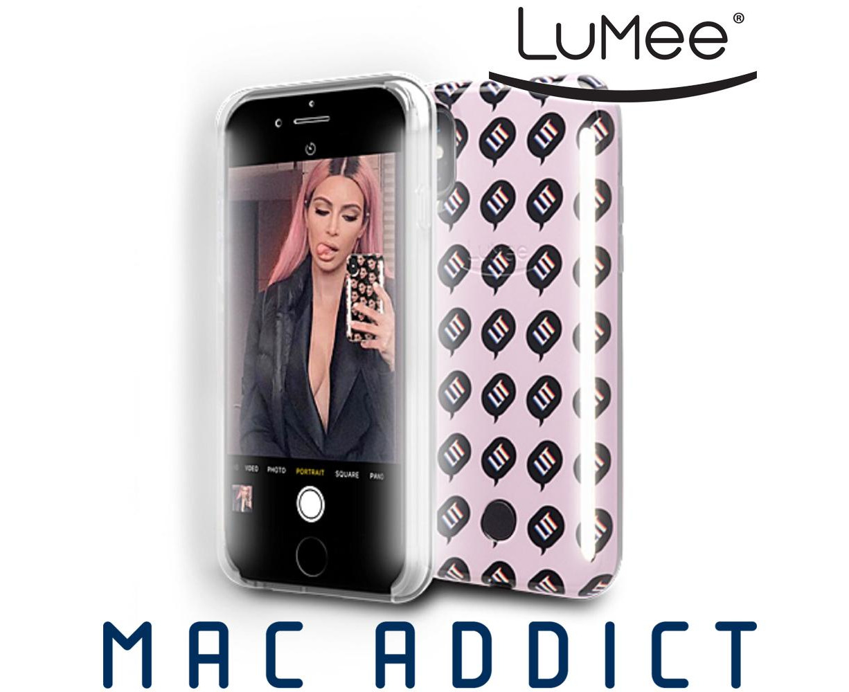 official photos ac996 7ec01 LuMee DUO Kimoji Case w/ Front & Back LED Lights For iPhone XS / X - LIT