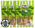 3 x Chunky Funkeez Sour Crocodile Lollies 170g 1