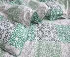 Gioia Casa Oliver Printed All Seasons Cloud-Like Double Bed Quilt - Green/White 3