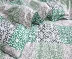 Gioia Casa Oliver Printed All Seasons Cloud-Like King Bed Quilt - Green/White 3