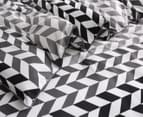 Gioia Casa Aaron Printed All Seasons Cloud-Like Single Bed Quilt - Black/White 3