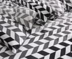 Gioia Casa Aaron Printed All Seasons Cloud-Like King Bed Quilt - Black/White 3