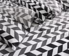 Gioia Casa Aaron Printed All Seasons Cloud-Like Double Bed Quilt - Black/White 3