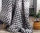 Gioia Casa Aaron Printed All Seasons Cloud-Like Double Bed Quilt - Black/White 5