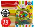 12 x Chunky Funkeez 4D Gummy Blocks 150g 1