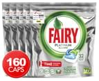 5 x 32pk Fairy Platinum All-In-One Dishwashing Capsules 1