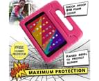 Cooper Dynamo [Rugged Kids Case] Protective Case for Samsung Tab 3 Lite 7, Tab E Lite 7   Child Proof Cover Stand, Handle   T110 T111 T113 T115 (Pink) 6