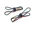 Rainbow Stainless Steel Infinity Clothes Pegs Large Size - 100 Pack 1