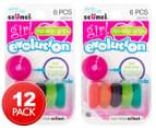 2 x 6pk Scünci No Slip Grip Girl Evolution Hair Elastics - Assorted 1