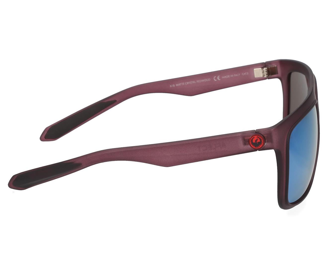 Matte Crystal Redwood//Blue Sky Dragon Aflect Sunglasses
