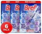 3 x 2pk Bref Power Aktiv Toilet Block Lavender Field 50g 1
