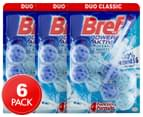 3 x 2pk Bref Power Aktiv Toilet Block Ocean Breeze 50g 1