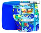 Speedo Boys' Octo Friends Aquashort - Beautiful Blue/Speedo Comic 1