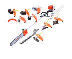 4-STROKE Brush Cutter Pole Chainsaw Hedge Trimmer Saw Whipper Snipper Multi Tool 1