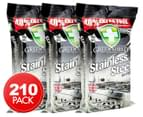 3 x Greenshield Stainless Steel Surface Wipes 70pk 1
