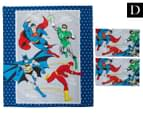 Justice League Double Bed Quilt Cover Set 1
