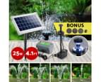 Gardeon 25W Solar Powered Water Pond Pump With Battery Outdoor Submersible 3