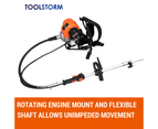 4-STROKE Backpack Brushcutter Trimmer Whipper Snipper Brush Cutter Multi Tool 2