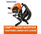 4-STROKE Backpack Chainsaw Hedge Trimmer Grass Edger Brush Cutter WhipperSnipper 3