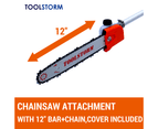 4-STROKE Hedge Trimmer Chainsaw Brush Cutter Whipper Snipper Multi Tool 4
