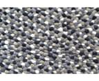 Handwoven Trendy Wool Rug - Jelly Bean - Grey 2